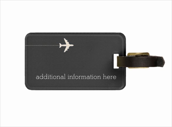 Luggage Name Tag Template Best Of Sample Luggage Tag Template 28 Free Documents In Pdf Psd