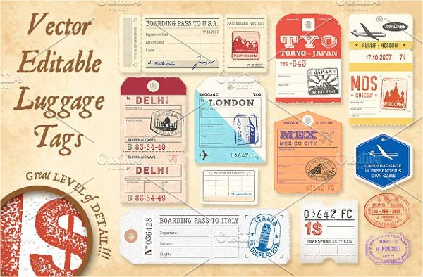 Luggage Name Tag Template Lovely 10 Luggage Tag Templates