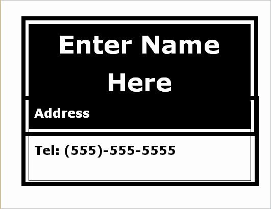 Luggage Name Tag Template New Luggage Tag Templates for Ms Word