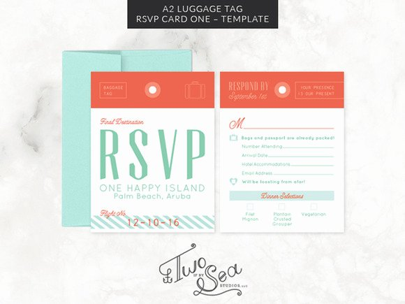 Luggage Tag Insert Template Beautiful A2 Luggage Tag Rsvp Card Template Invitation Templates On Creative Market