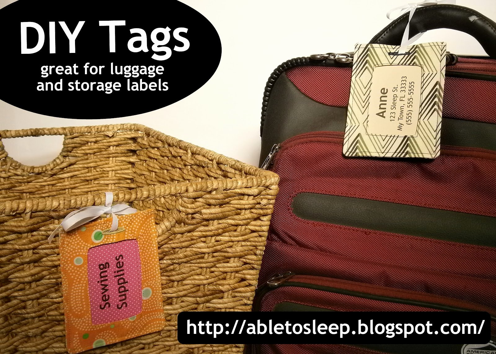 Luggage Tag Insert Template Best Of Able to Sleep Luggage or Decorative Tag Tutorial