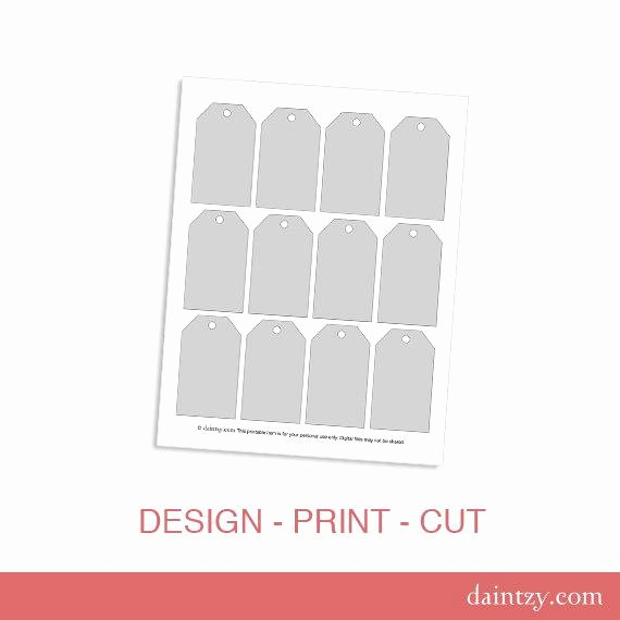 Luggage Tag Insert Template New Instant Download Luggage Tag Gift Tag Printable by Daintzy