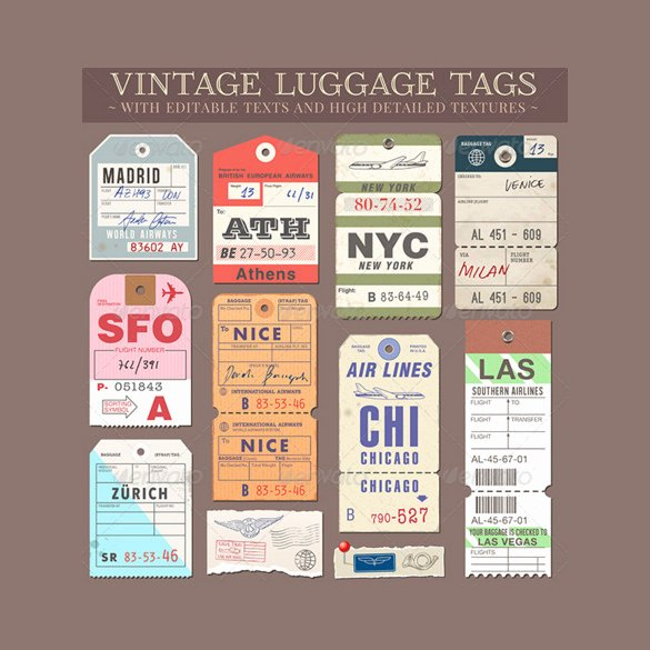 Luggage Tag Template Word Beautiful Sample Luggage Tag Template 28 Free Documents In Pdf Psd
