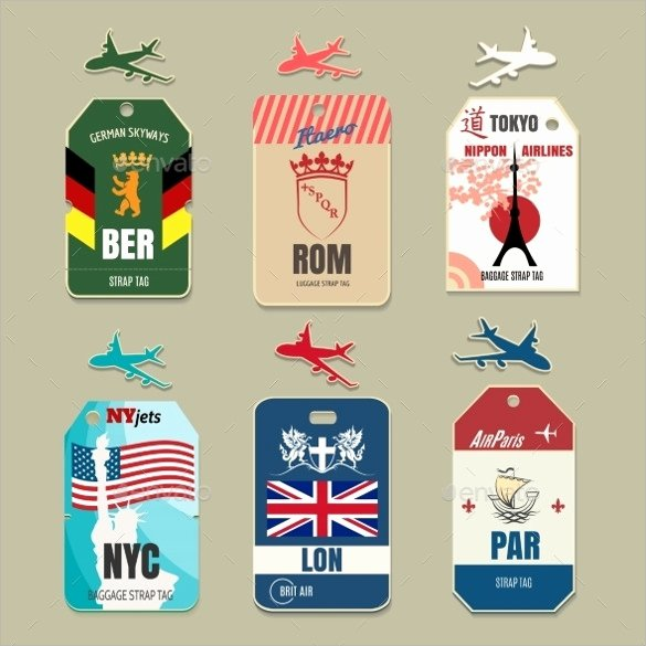 Luggage Tag Template Word Best Of Sample Luggage Tag 15 Documents In Pdf Word