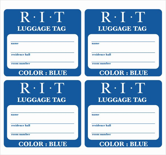 Luggage Tag Template Word Fresh Luggage Tag Template 29 Download Free Documents In Pdf Psd