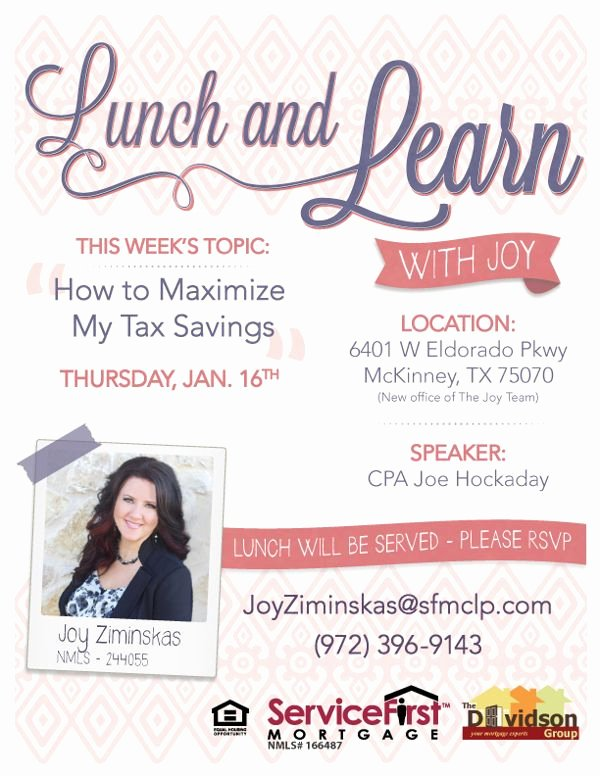 Lunch and Learn Invites Best Of Marketing Flyer for Mortgage Pany Lunch and Learn On Behance by Vanessa Abigail Freelance