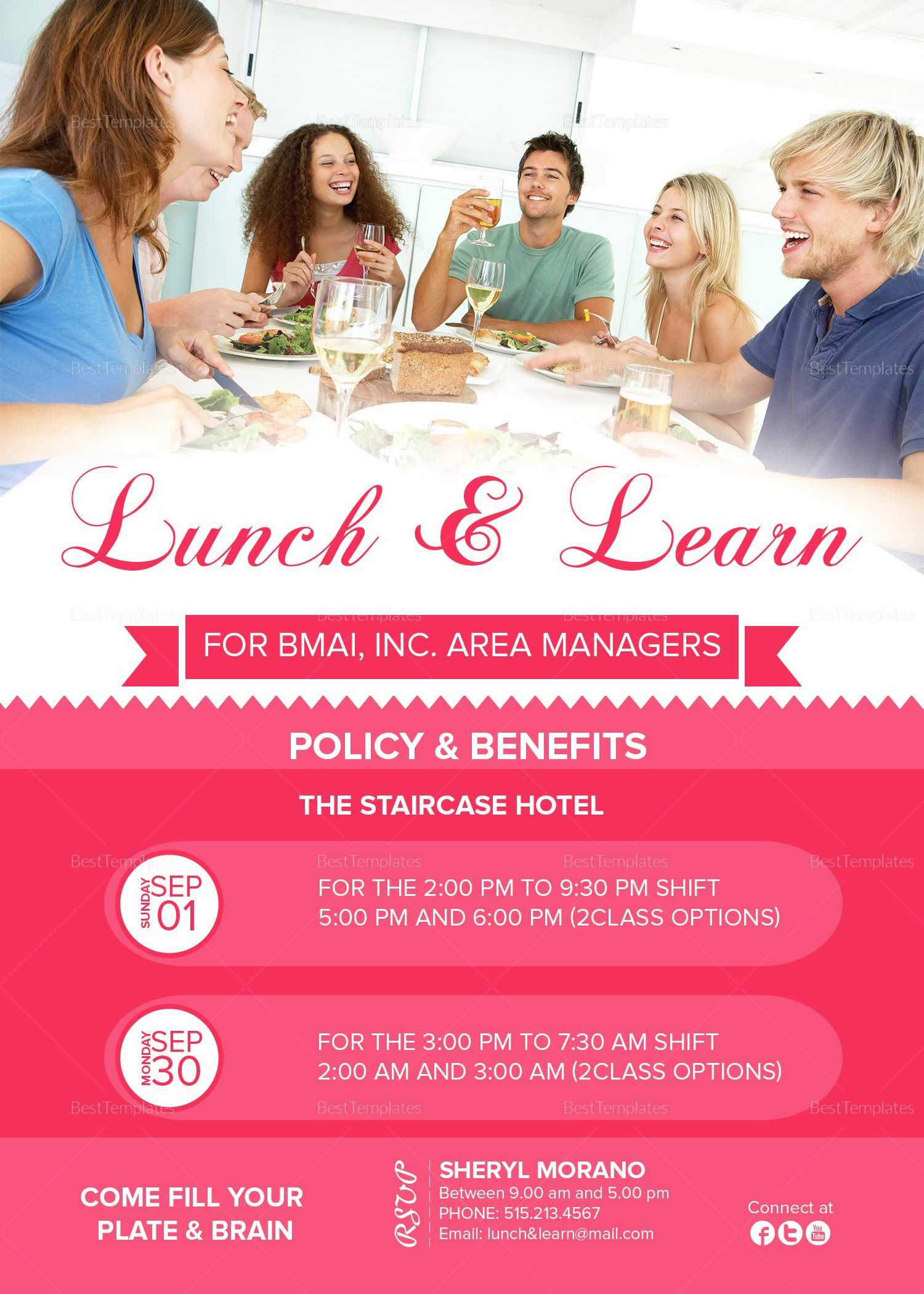 Lunch and Learn Invites Inspirational Lunch and Learn Invitation Design Template In Psd Word Publisher