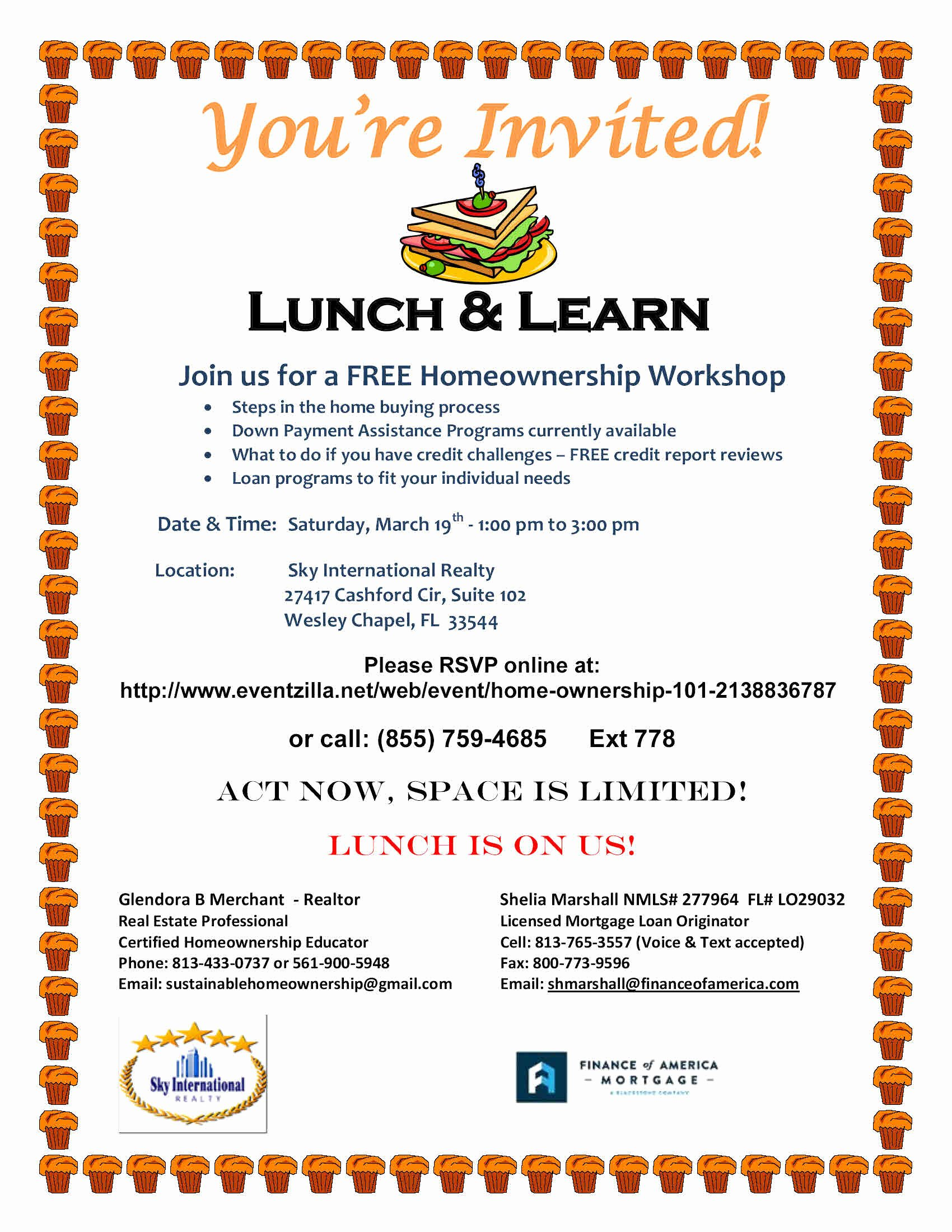 Lunch and Learn Invites Inspirational Real Estate Education and Seminars