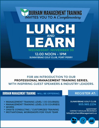 Lunch and Learn Invites Lovely Business Flyer Brochure Poster Presentation