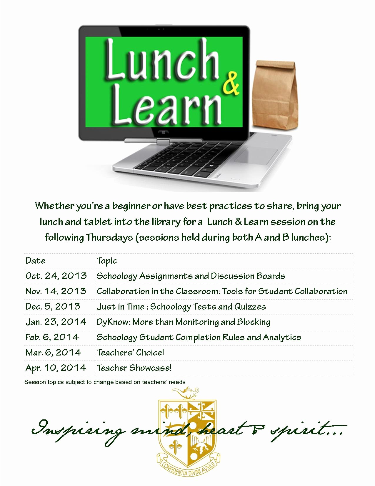 Lunch and Learn Invites Lovely Lunch & Learn