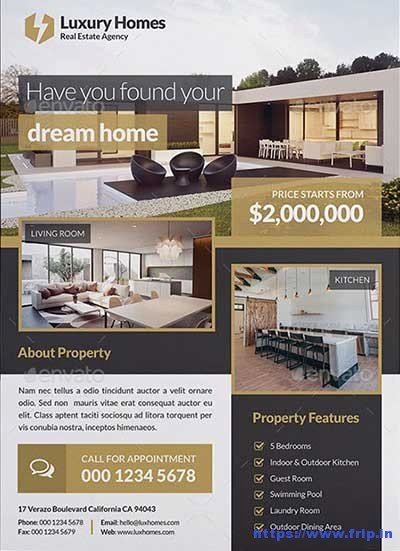 Luxury Real Estate Brochures Awesome 50 Best Real Estate Flyer Print Templates 2017