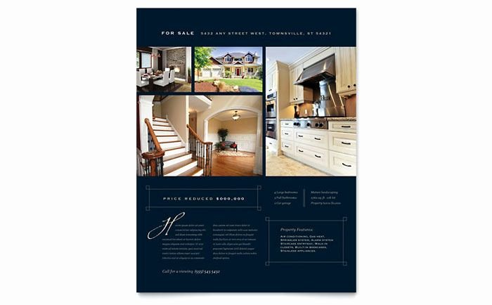 Luxury Real Estate Brochures Awesome Luxury Home Real Estate Flyer Design Template by Stocklayouts Design