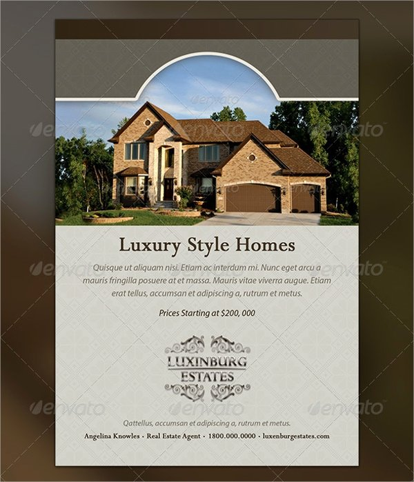 Luxury Real Estate Brochures Lovely 24 Luxury Flyer Templates Free Psd Ai Vector Eps