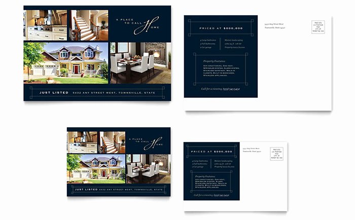Luxury Real Estate Brochures Lovely Luxury Home Real Estate Postcard Template Design