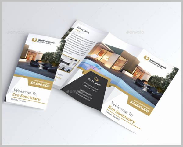 Luxury Real Estate Brochures Unique 25 Real Estate Tri Fold Brochure Designs & Templates Psd Ai Word Indesign Publisher