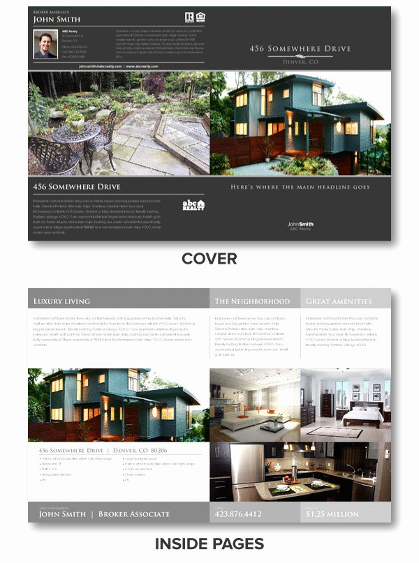 Luxury Real Estate Brochures Unique Ledger Size Luxury Brochure
