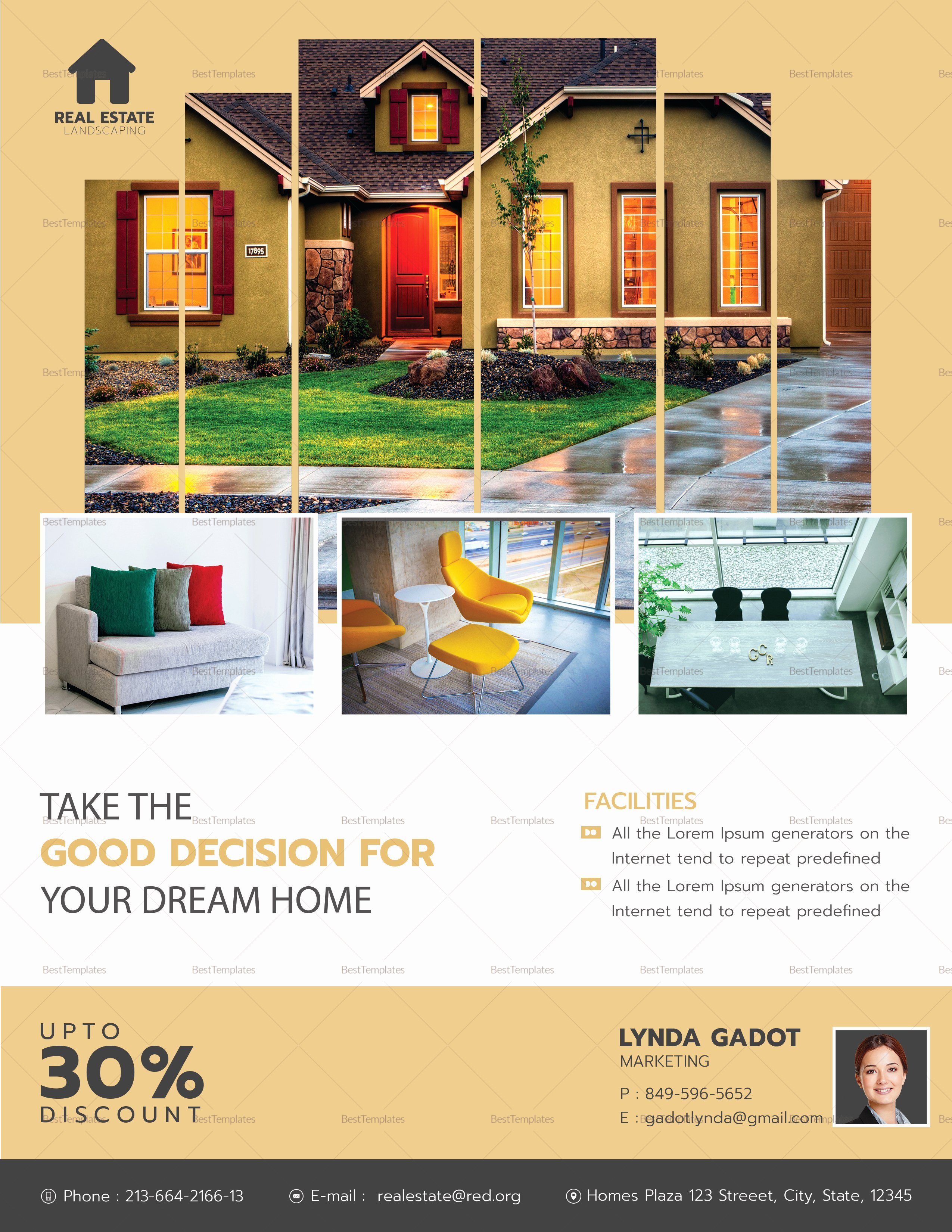 Luxury Real Estate Flyers Awesome Luxury Real Estate Flyer Design Template In Word Psd Publisher
