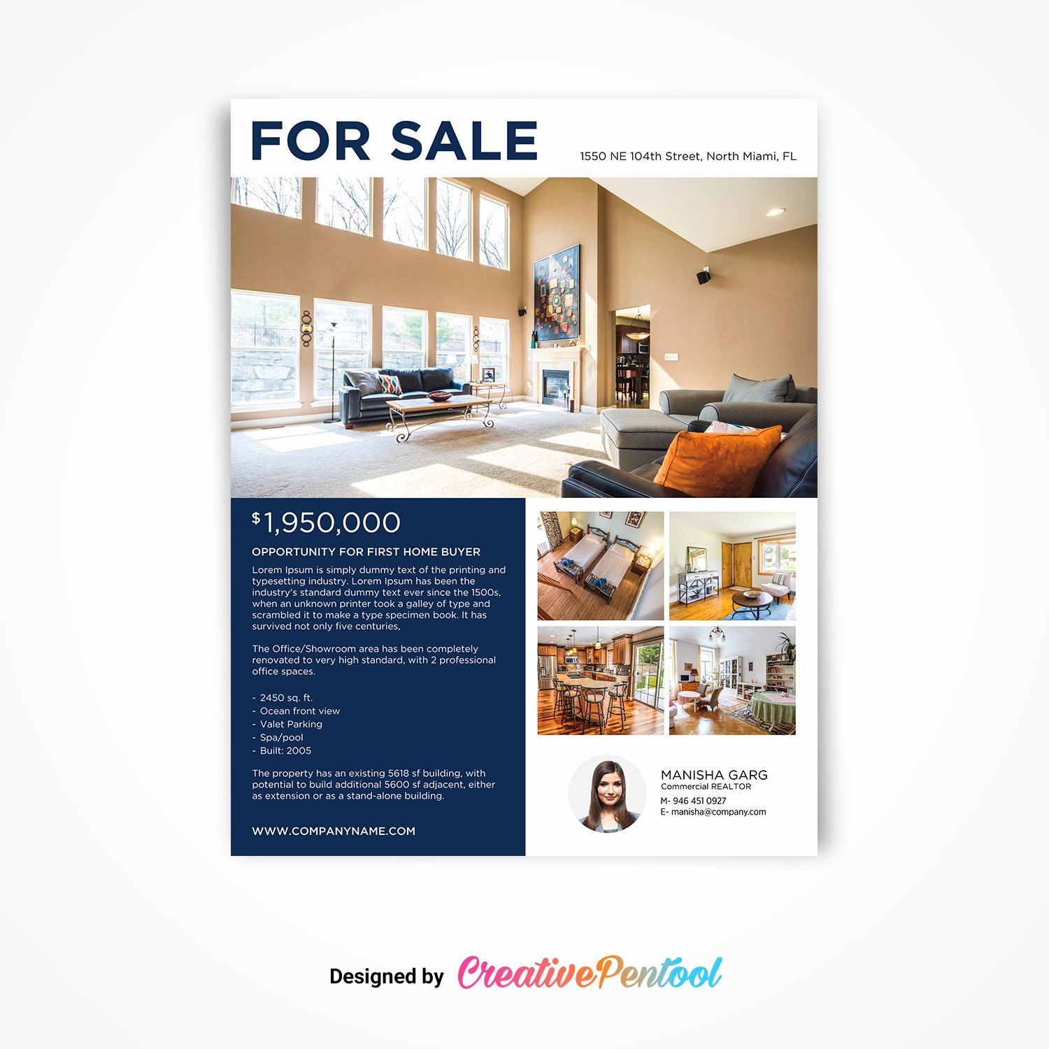 Luxury Real Estate Flyers Awesome Luxury Real Estate Flyer for Sale Creativepentool
