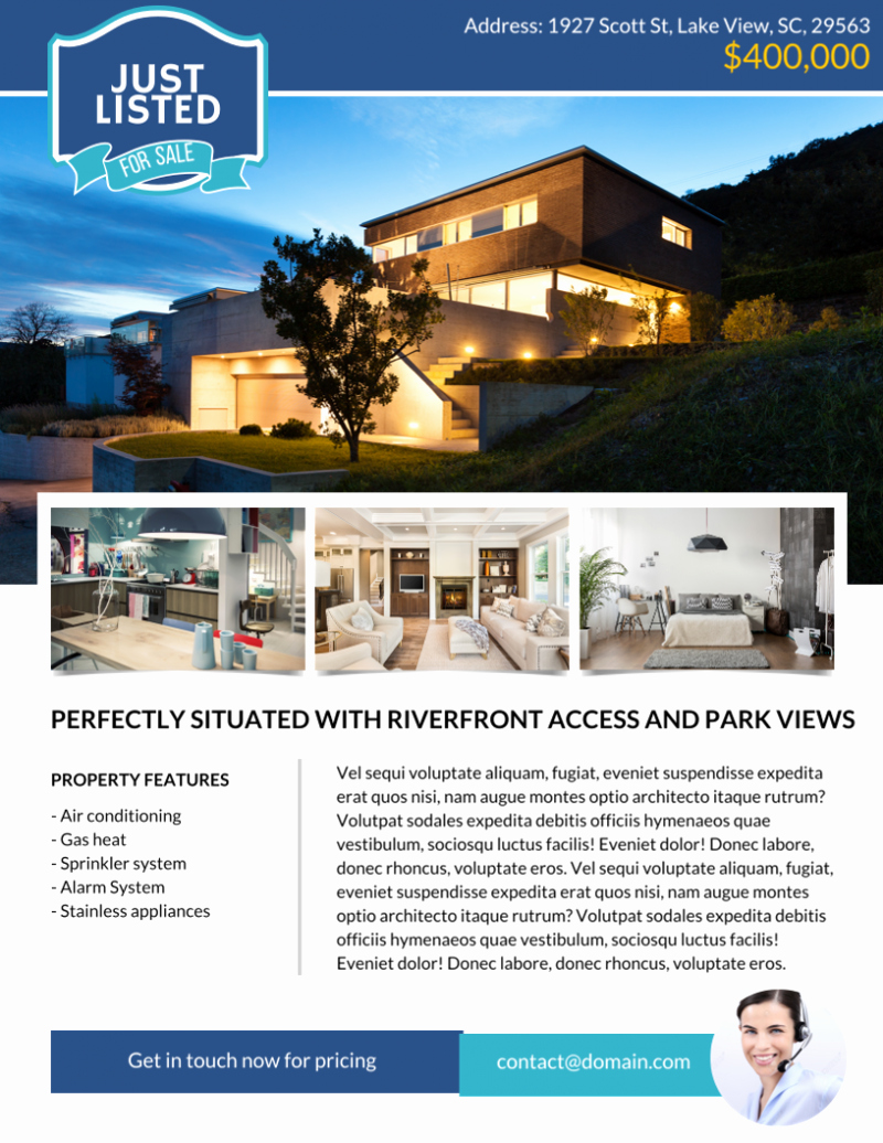 Luxury Real Estate Flyers Beautiful the Best Real Estate Flyer for All Realty Panies