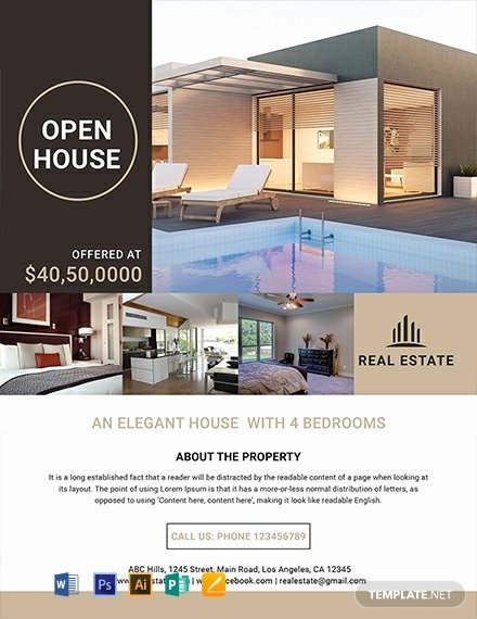 Luxury Real Estate Flyers Elegant 26 Free Real Estate Flyer Templates Word Psd Indesign Apple Pages
