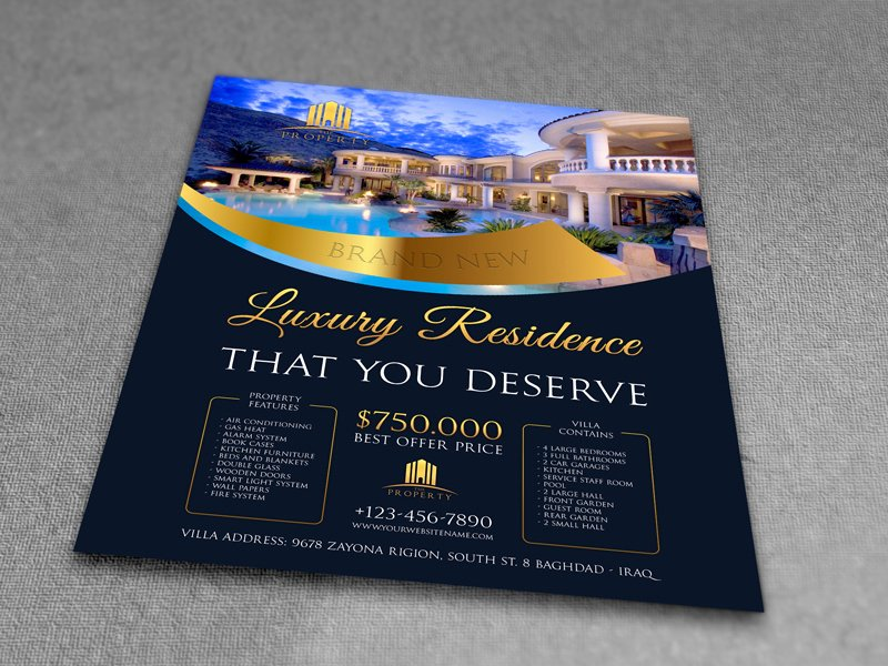 Luxury Real Estate Flyers Fresh Best Real Estate Flyer Templates Design