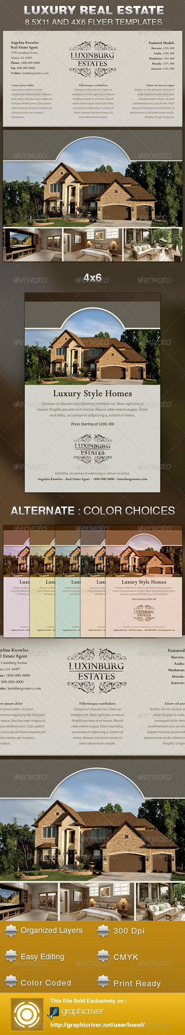 Luxury Real Estate Flyers Luxury Luxury Real Estate Flyer Template