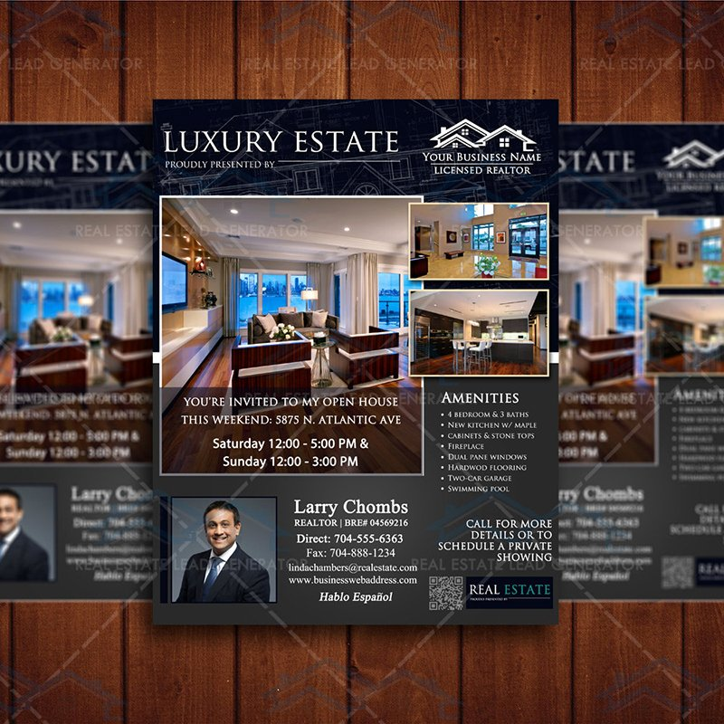 Luxury Real Estate Flyers New Luxury Real Estate Flyer – Instant Download – Real Estate Lead Generator