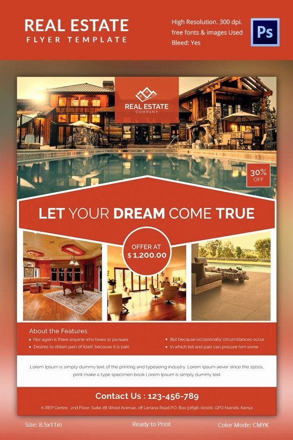 Luxury Real Estate Flyers Unique Real Estate Flyer Template 35 Free Psd Ai Vector Eps format Download