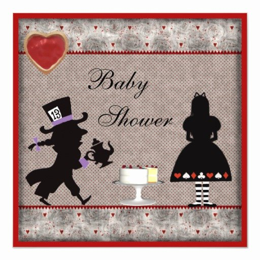 Mad Hatter Tea Party Invites Awesome Mad Hatter S Tea Party Baby Shower Invites