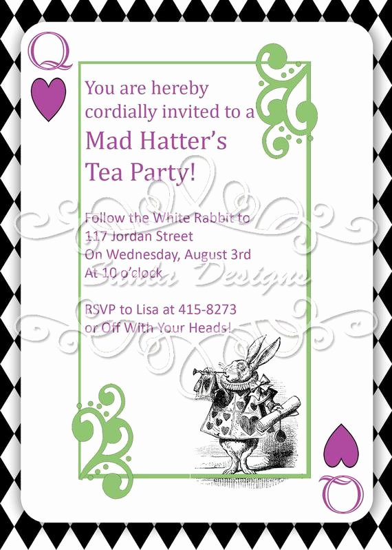 Mad Hatter Tea Party Invites Beautiful Items Similar to Mad Hatter S Tea Party Birthday Party or Playdate Invitation Printable On Etsy