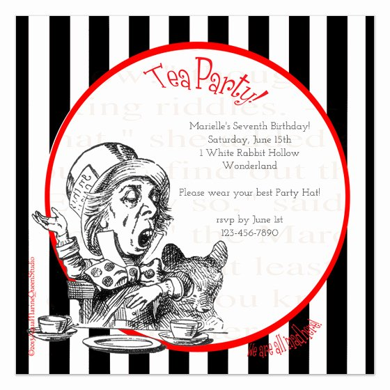 Mad Hatter Tea Party Invites Beautiful Mad Hatter S Tea Party Invitations & Cards On Pingg