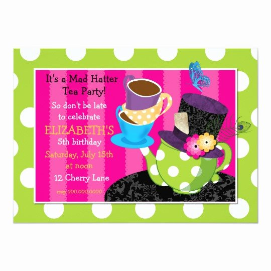 Mad Hatter Tea Party Invites Beautiful Mad Hatter Tea Party Birthday Invitation