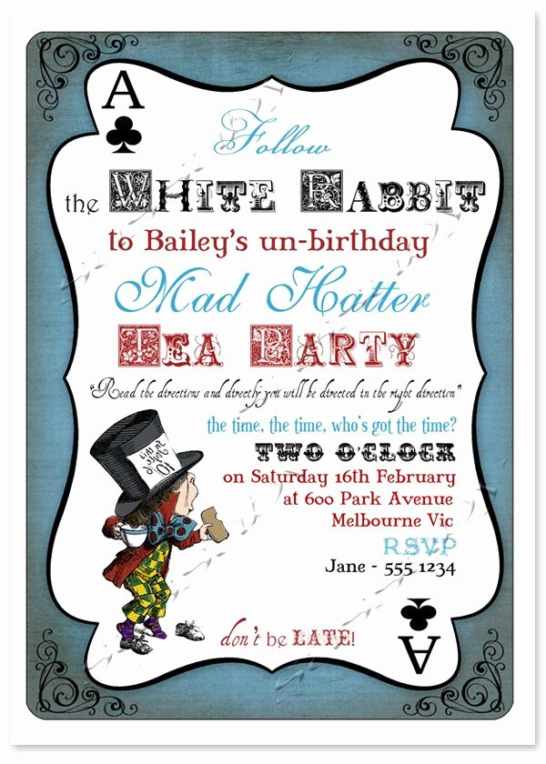 Mad Hatter Tea Party Invites Beautiful Mad Hatter Tea Party Invitation Alice In Wonderland Instant Download Editable & Printable