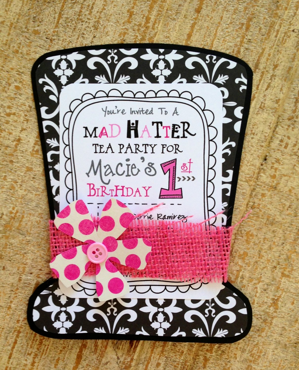 Mad Hatter Tea Party Invites Beautiful Mad Hatter Tea Party Invitation by Jodigilbert2004 On Etsy