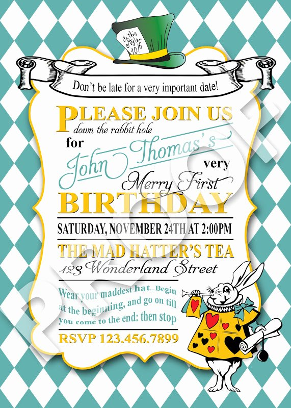 Mad Hatter Tea Party Invites Beautiful Paper Perfection Mad Hatter Tea Invitation