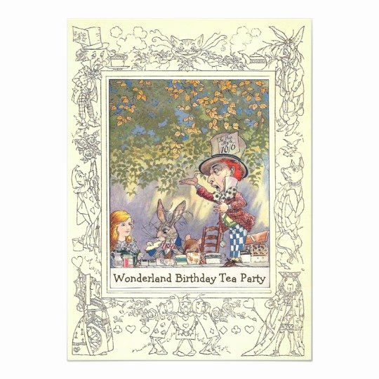 Mad Hatters Tea Party Invite Awesome Mad Hatter S Wonderland Birthday Tea Party Invitation