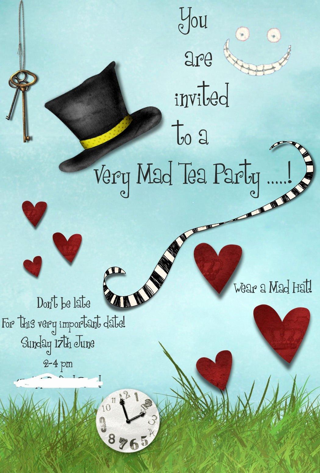 Mad Hatters Tea Party Invite Beautiful Jen S Place Mad Hatters Tea Party