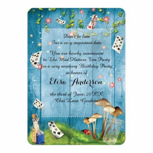 Mad Hatters Tea Party Invite Beautiful Mad Hatter Tea Party Birthday Party Invitation