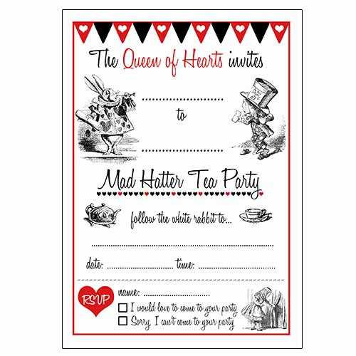 Mad Hatters Tea Party Invite Lovely 12 Cool Mad Hatter Tea Party Invitations