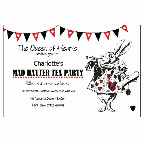 Mad Hatters Tea Party Invite New Mother Daughter Tea Mad Hatter theme Invitations Google Search Projects to Try