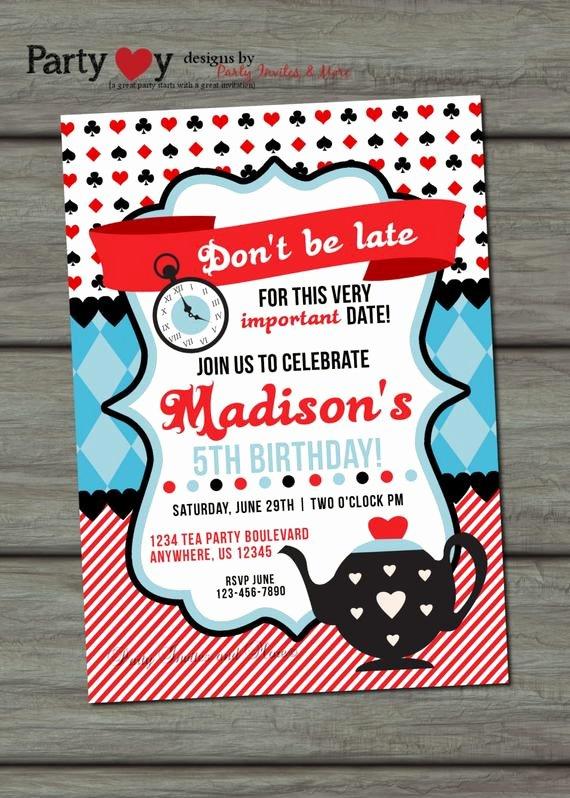 Mad Hatters Tea Party Invite Unique Items Similar to Tea Party Birthday Invitation Mad Hatter Tea Party Invitation Alice In