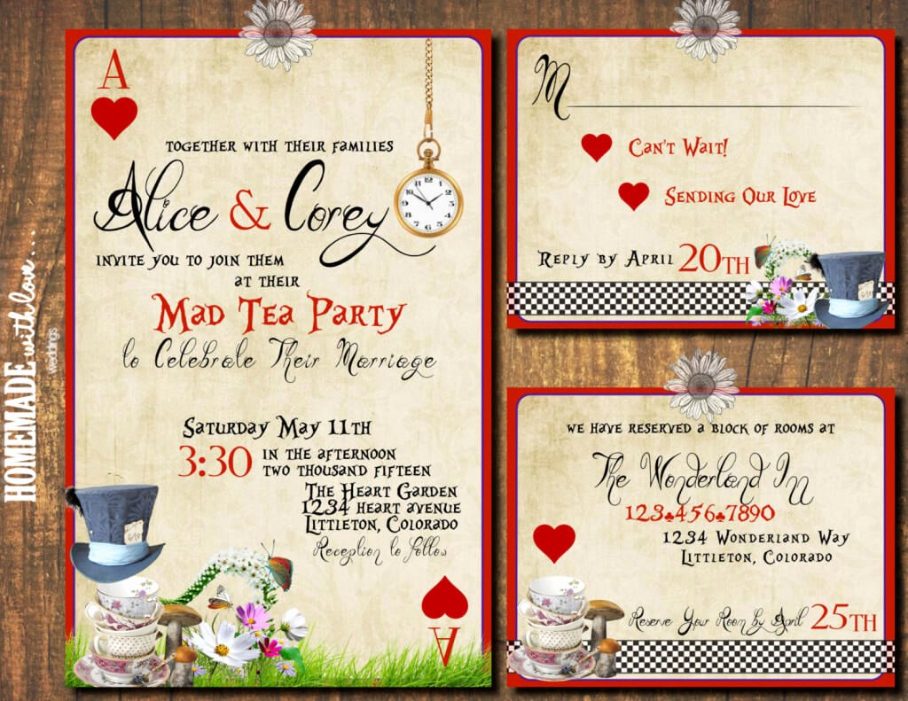 Mad Hatters Tea Party Invites Beautiful A Mad Hatter's themed Tea Party