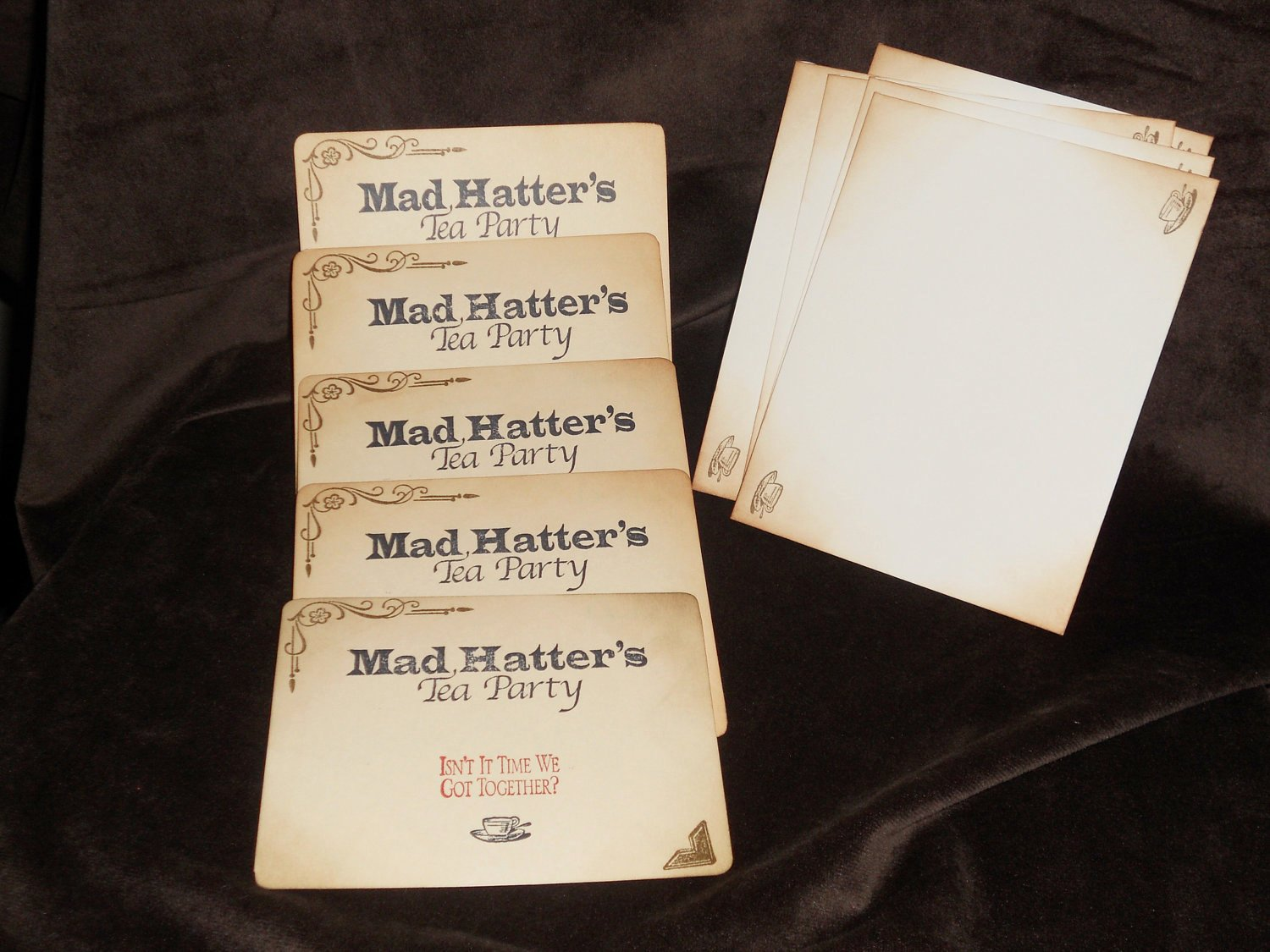 Mad Hatters Tea Party Invites Beautiful Alice In Wonderland Mad Hatter S Tea Party Invitations