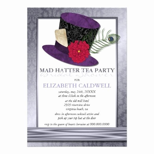 Mad Hatters Tea Party Invites Best Of Free Mad Hatter Template Invitation