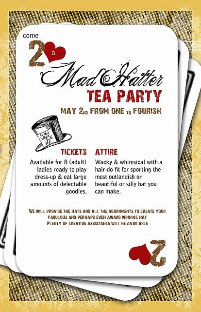 Mad Hatters Tea Party Invites Best Of Mad Hatter Invitation Design Alice and Wonderland Ideas Pinterest