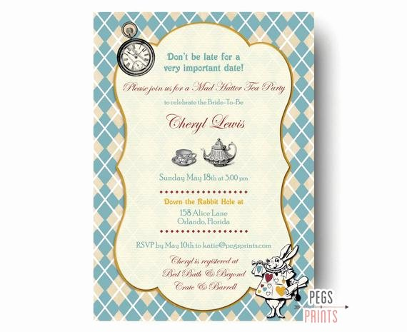 Mad Hatters Tea Party Invites Best Of Mad Hatter Tea Party Invitation Mad Hatter Bridal Shower