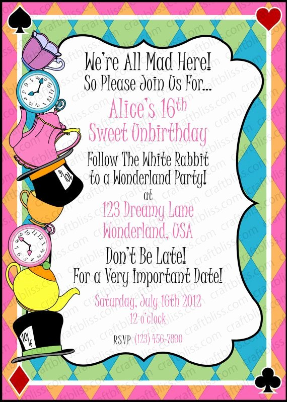 Mad Hatters Tea Party Invites Fresh Pin by Beth On Halloween Invites