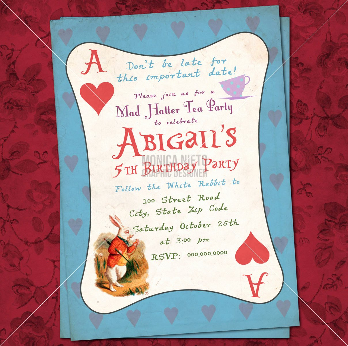 Mad Hatters Tea Party Invites Inspirational Printable Mad Hatter Tea Party Alice In Wonderland Birthday