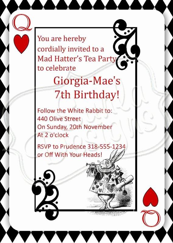 Mad Hatters Tea Party Invites Luxury Items Similar to Mad Hatter S Tea Party Birthday Party or Playdate Invitation Printable On Etsy