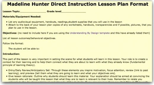 Madeline Hunter Lesson Plan Template Lovely top 10 Lesson Plan Template forms and Websites
